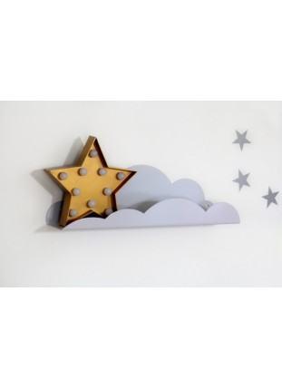 Metal Cloud Shelf - Grey