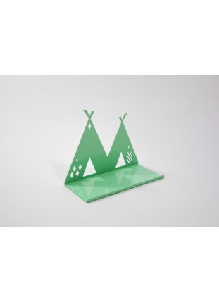 Metal Teepee Shelf - Mint