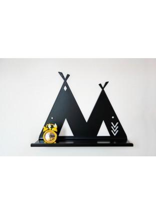 Metal Tipi Shelf - Black