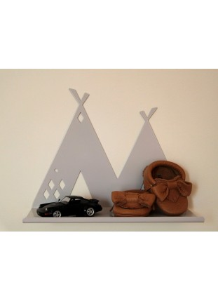 Metal Tipi Shelf - Grey
