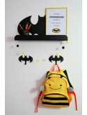 Metal Batman Hanger - Black