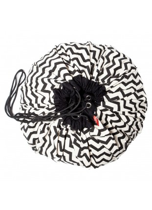 ZigZag / Black - Toy Storage Bag