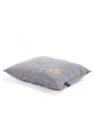Bed Pillow Velvet - Dark Grey