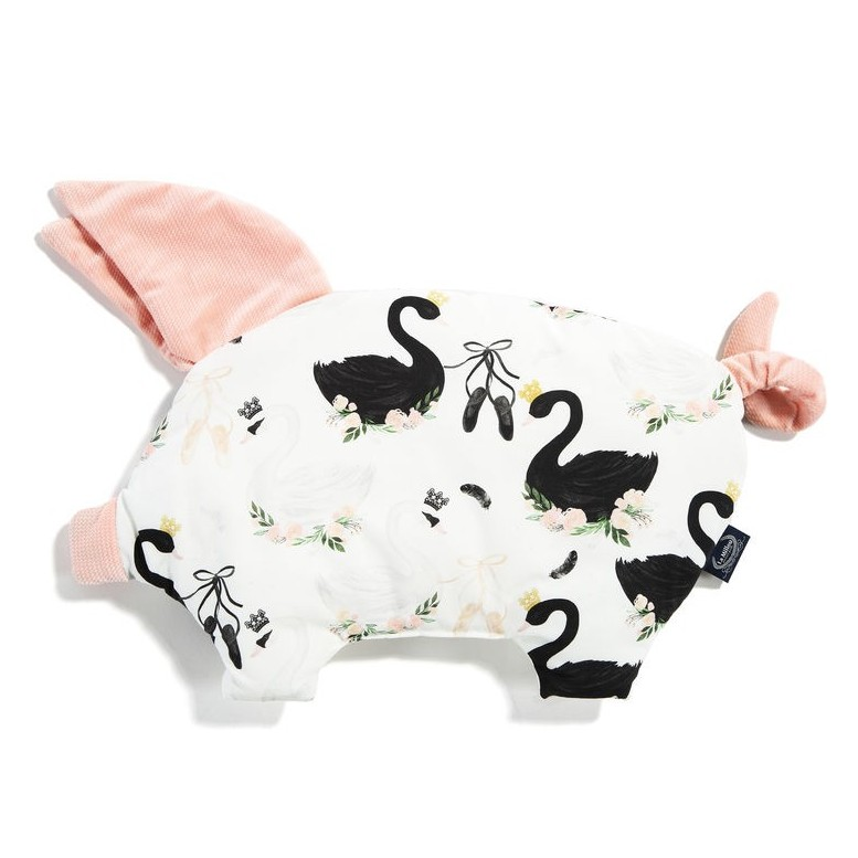 Sleepy Pig Velvet - Moonlight Swan / Powder Pink