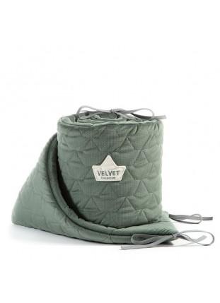 Bed Bumper Velvet - Khaki