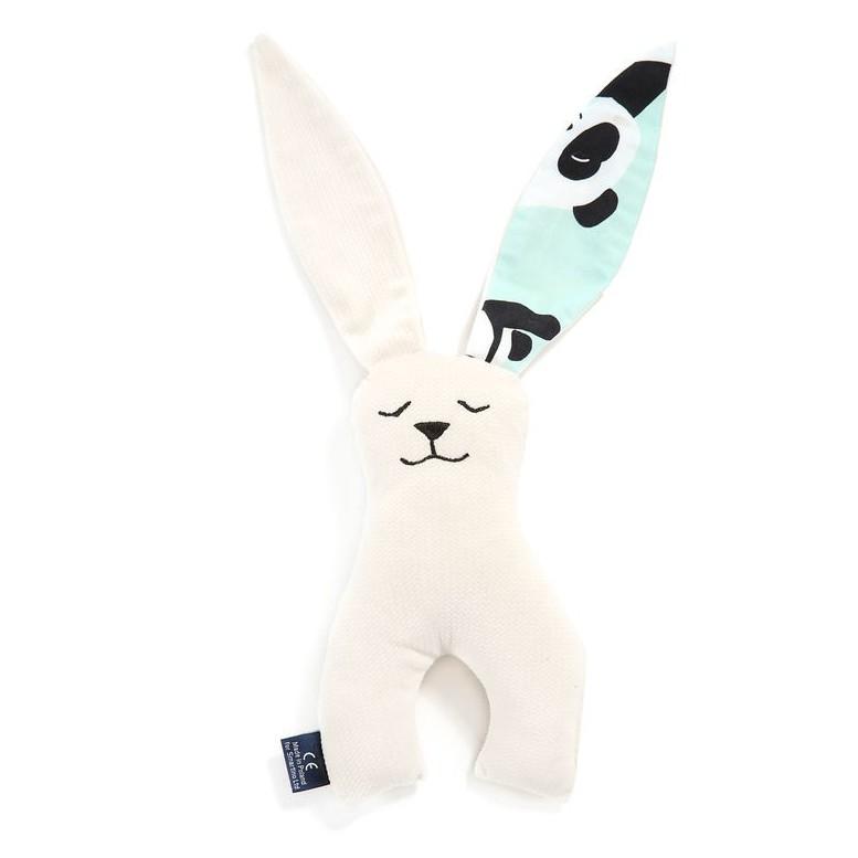 Long Eared Bunny Velvet - I Love Panda Mint / Rafaello