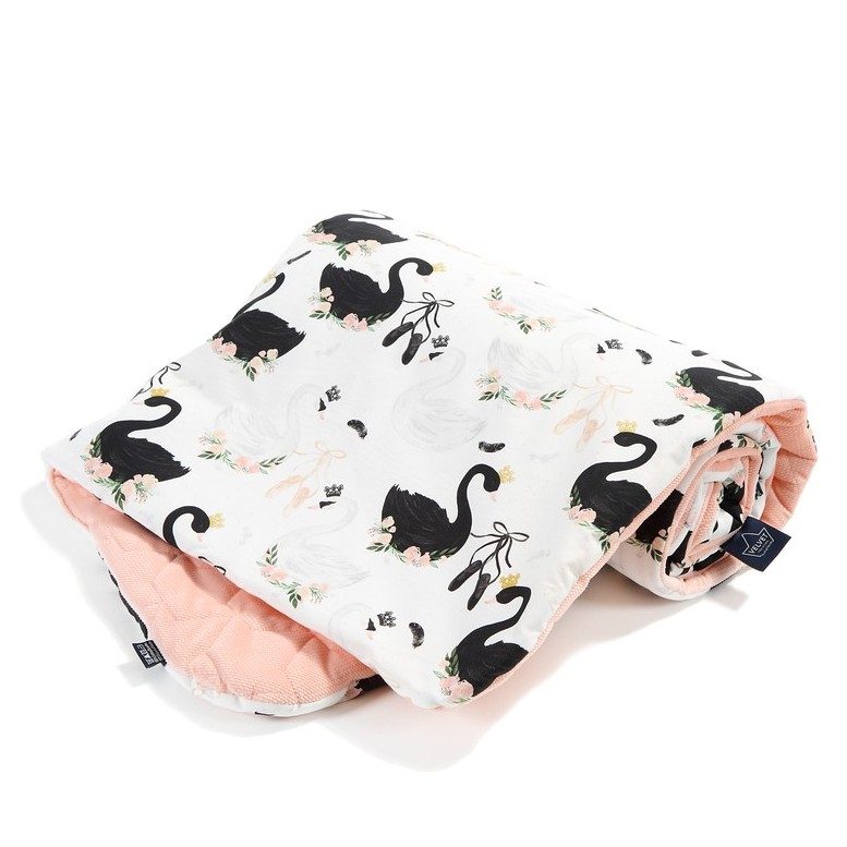 "Blanket ""M"" Velvet Slim - Moonlight Swan / Powder Pink"