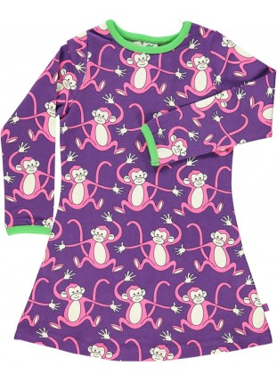 Baby dress with monkeys
