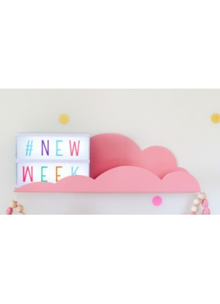 Metal Cloud Shelf - Pink