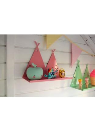 Metal Teepee Shelf - Pink