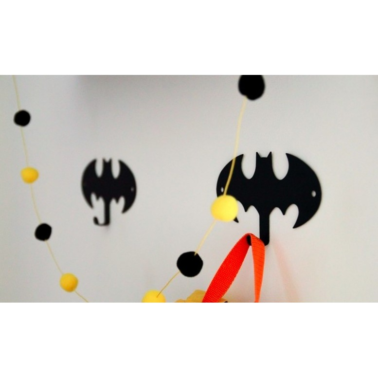 Metal Batman Hanger - Black