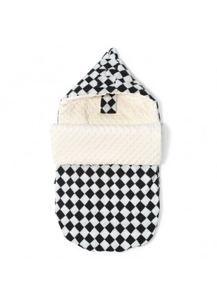 "Stroller Bag ""S"" - Follow Me Chessboard / Ecru"