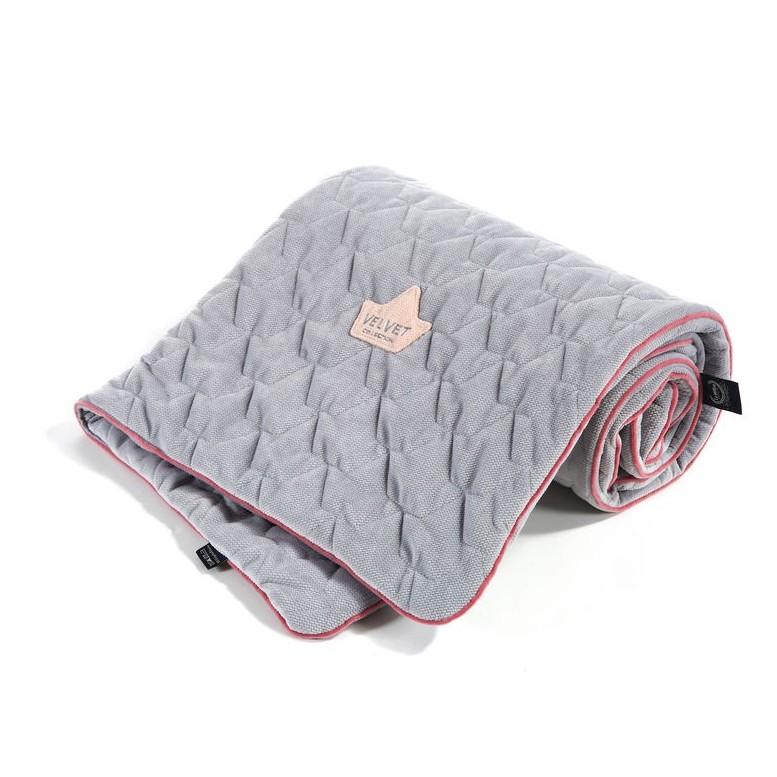 "Blanket ""L"" Velvet - Dark Grey"