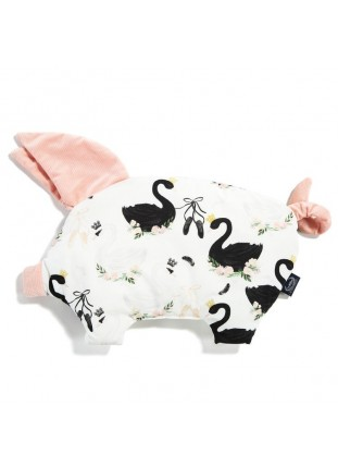 Sleepy Pig Velvet - Moonlight Swan / Powder Pink