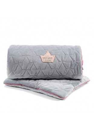 "Bedding ""M"" Velvet - Dark Grey & Pink"