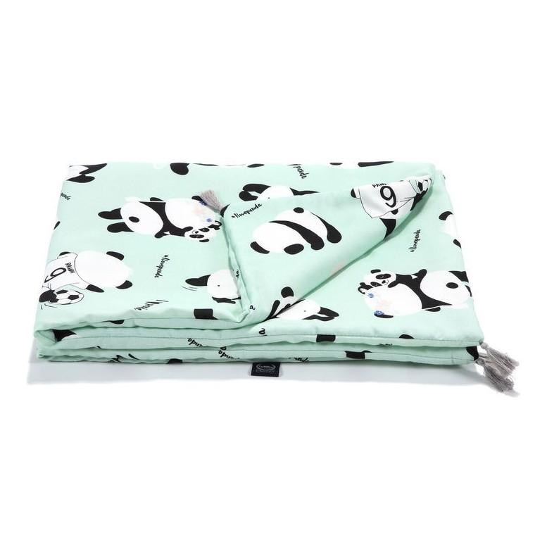 "Bamboo Bedding ""M"" - I Love Panda Mint"