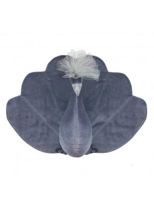 Peacock Velvet - Grey