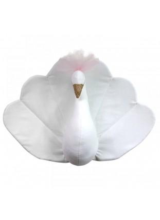 Peacock Velvet - White