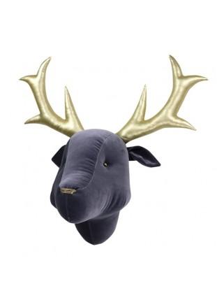 Reindeer Velvet - Grey