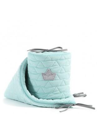 Bed Bumper Velvet - Audrey Mint