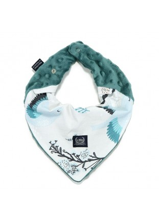 Bandana Bib - Blue Birds / Deep Ocean