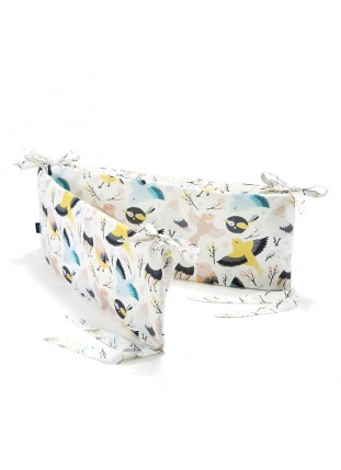 Bed Bumper - Cute Birds & Cute Flowers