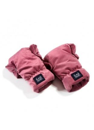 Hand Muff Gloves Velvet Aspen - Mulberry