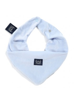 Bandana Bib Velvet - Dusty Blue