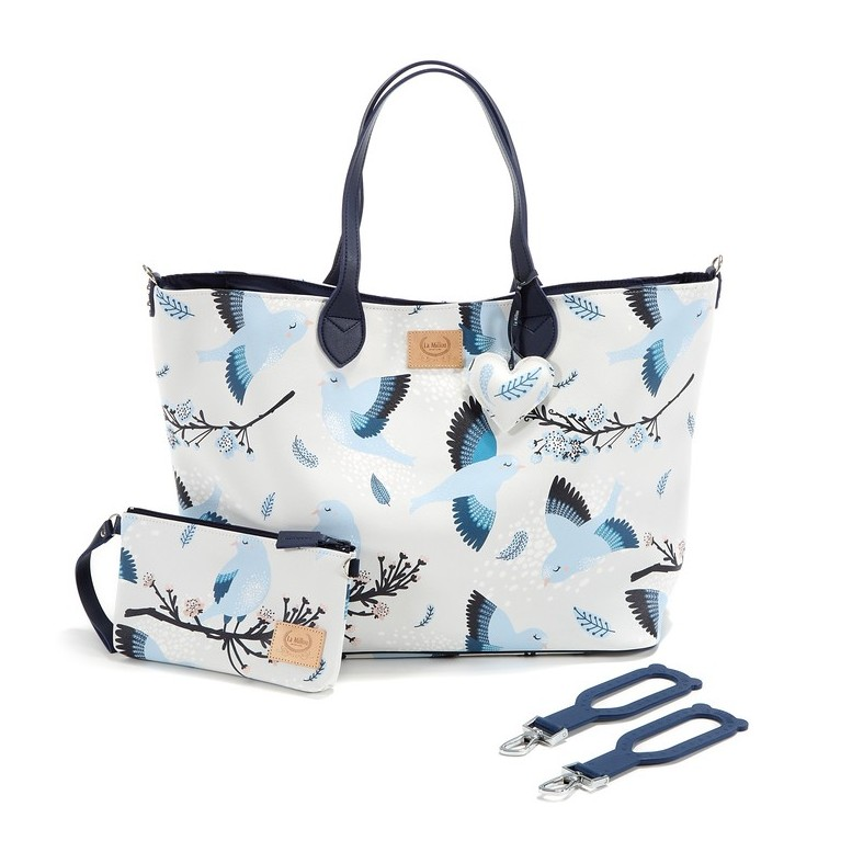 "Feeria Bag ""L"" & Clutch - Blue Birds"
