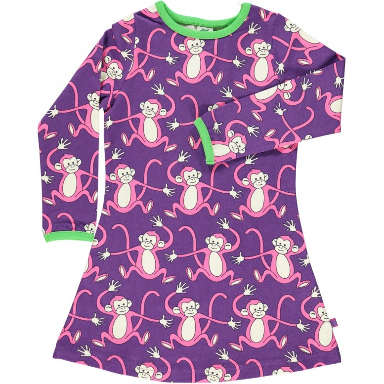 Baby dress with monkeys