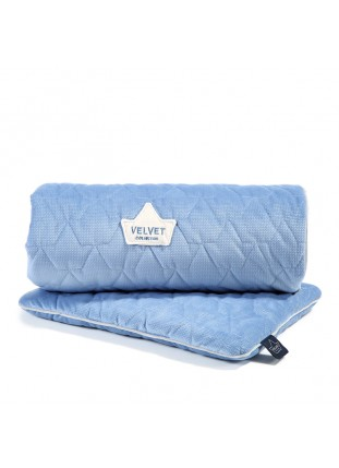 "Bedding ""M"" Velvet - Dove Blue"